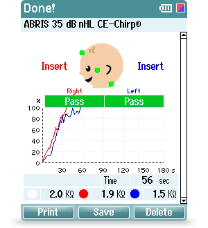 ABR testing for infants and adults